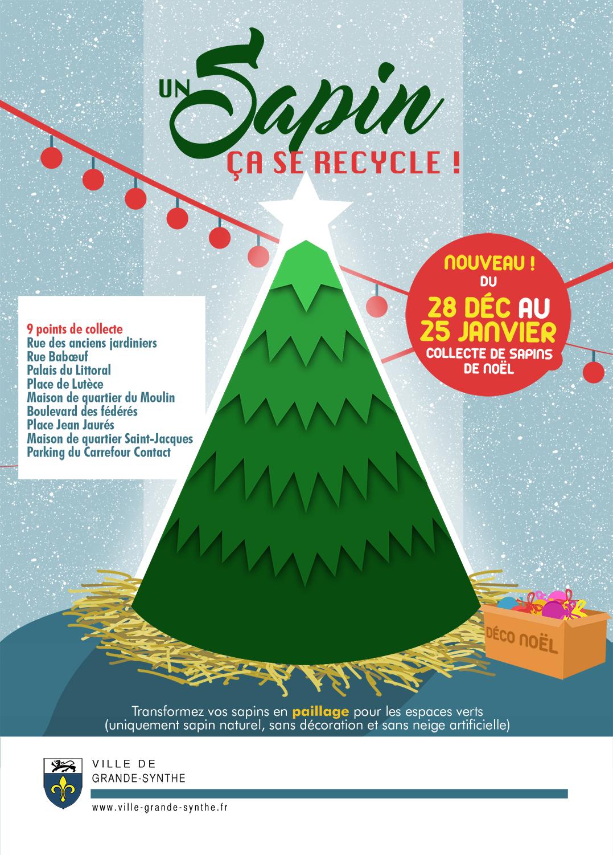 Pensez à recycler votre sapin naturel
