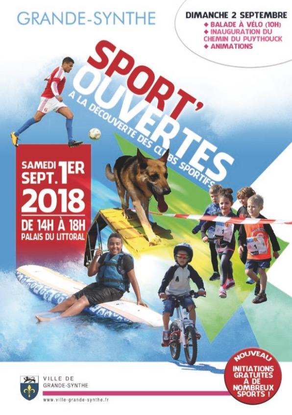 Sport'ouvertes ce samedi 1er sept.